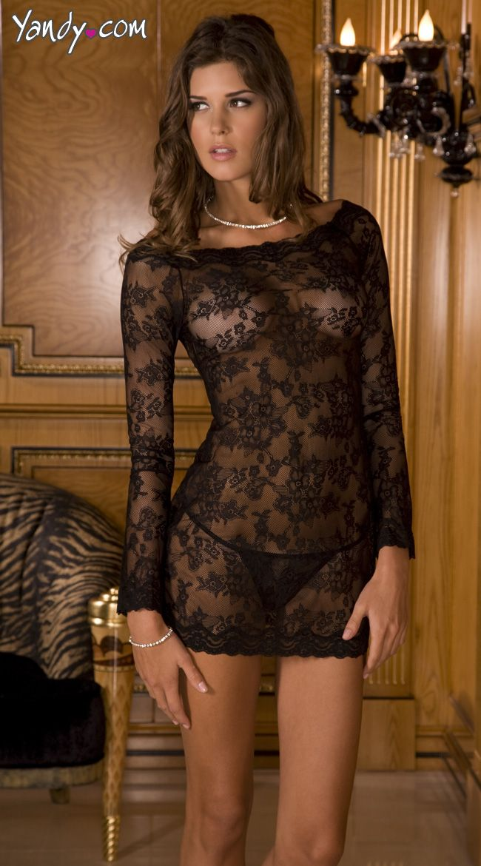 Long Sleeve Chemise Dress Set 0862c06c2