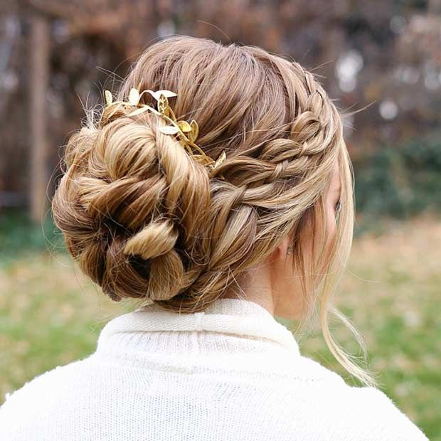 35 Gorgeous Updos For Bridesmaids Page 2 Of 3 Stayglam Long Hair Styles Long Hair Updo Braids For Long Hair