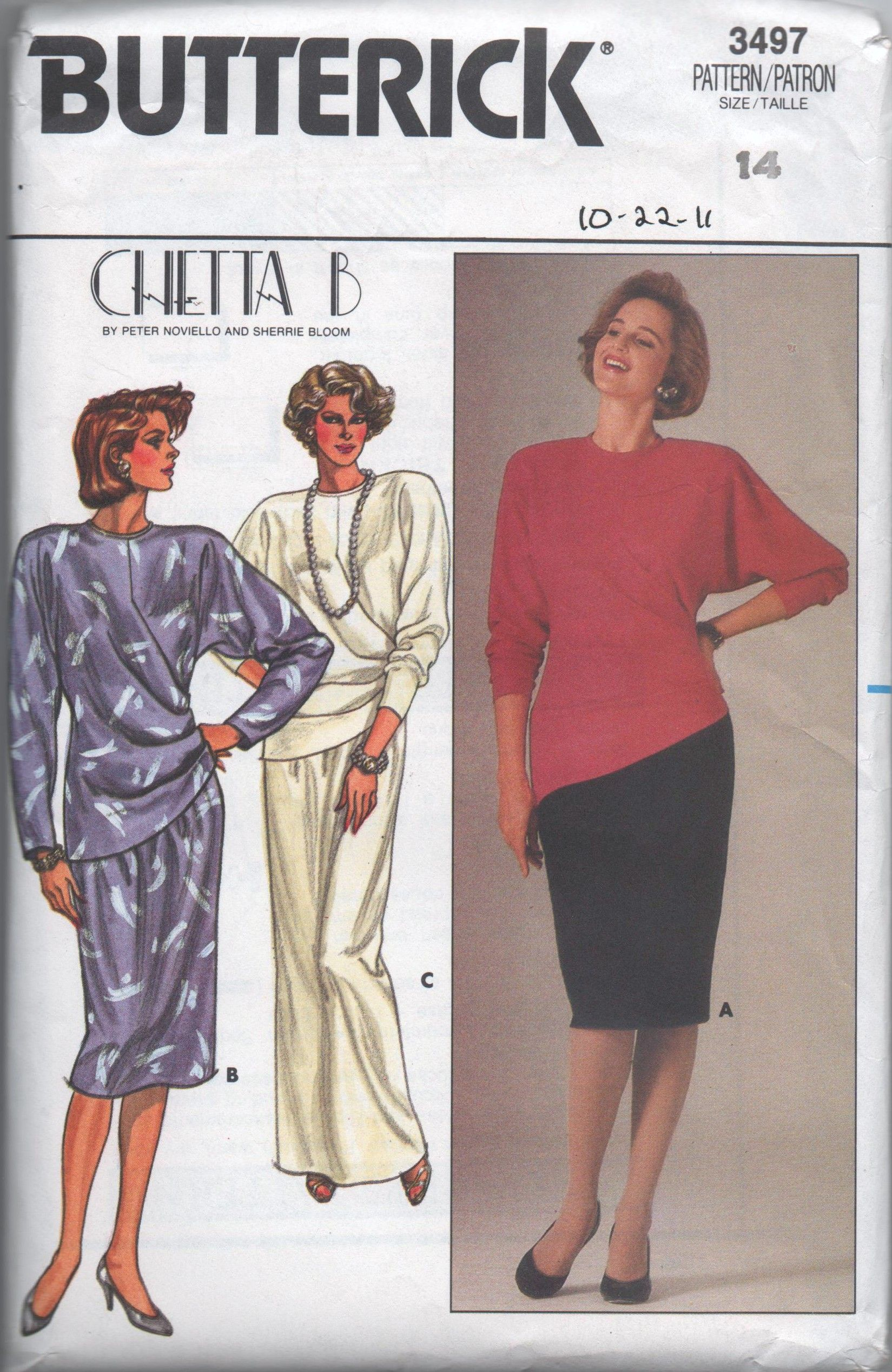 Butterick 3497 A in 2018 1980s sewing patterns