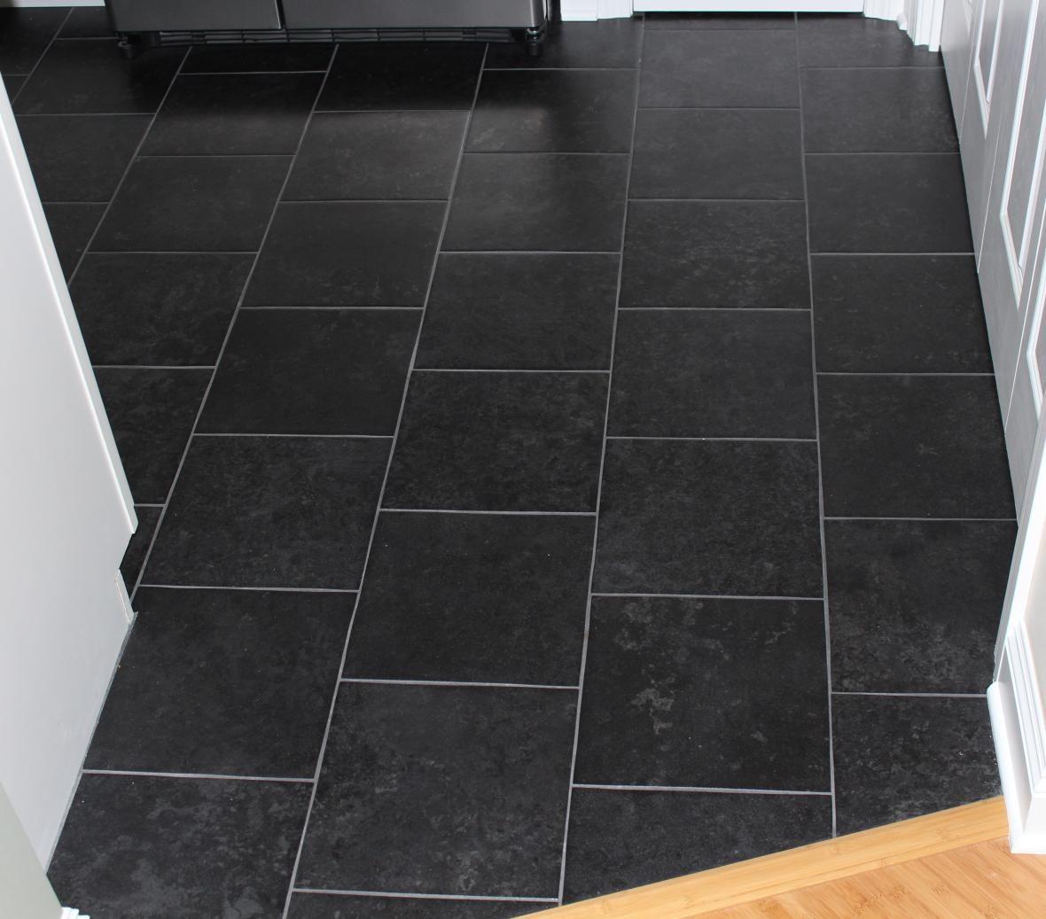 Kitchen floor tiles black photo 3 home decor pinterest kitchen floor tiles black photo 3 dailygadgetfo Images