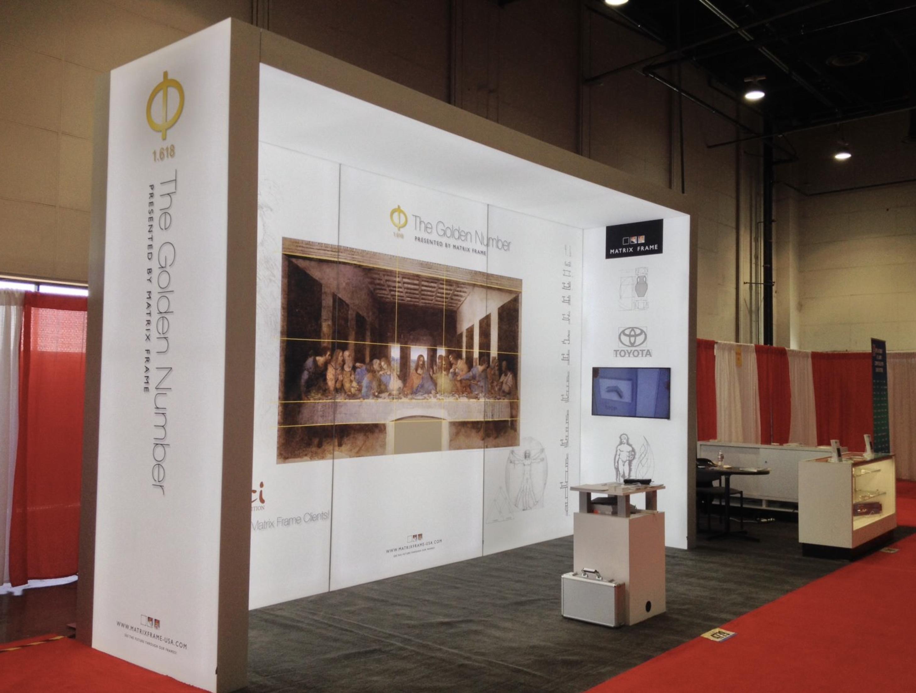 Portable Exhibition Booth : Custom panoramic led light box portable modular trade show