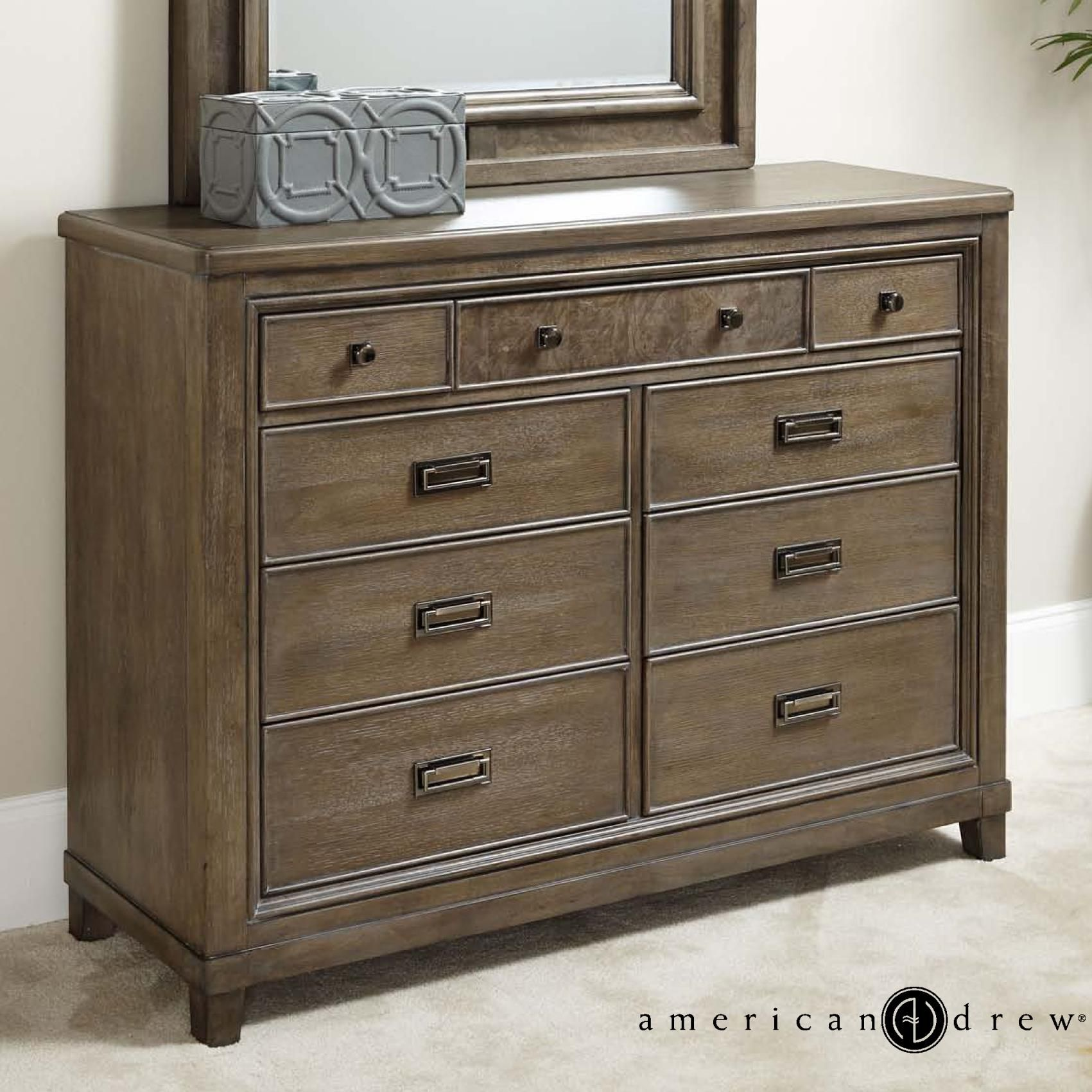 Attractive Park Studio Contemporary Dresser With Drop Top Center Drawer With Media  Storage By American Drew At Darvin Furniture