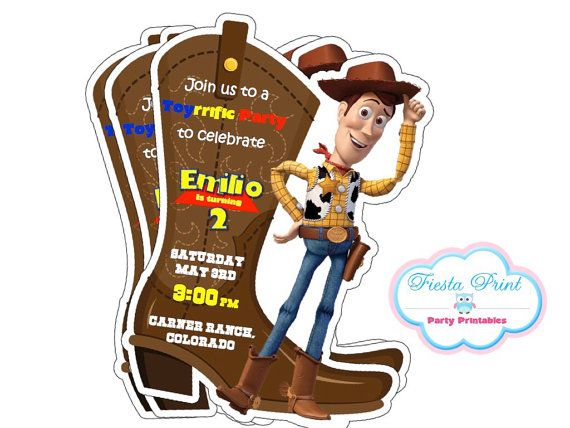 Toy Story Woody Invitation Printable By Fiestaprint On Etsy 8 00