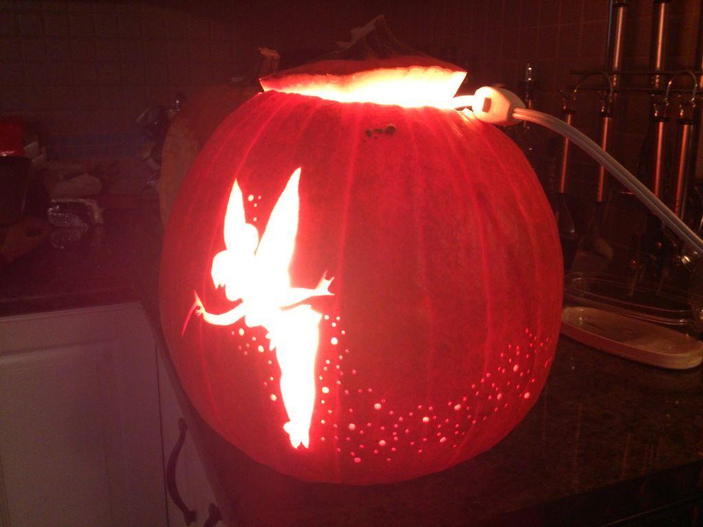 Diy tinker bell pixie dust pumpkin carving | home design, garden.