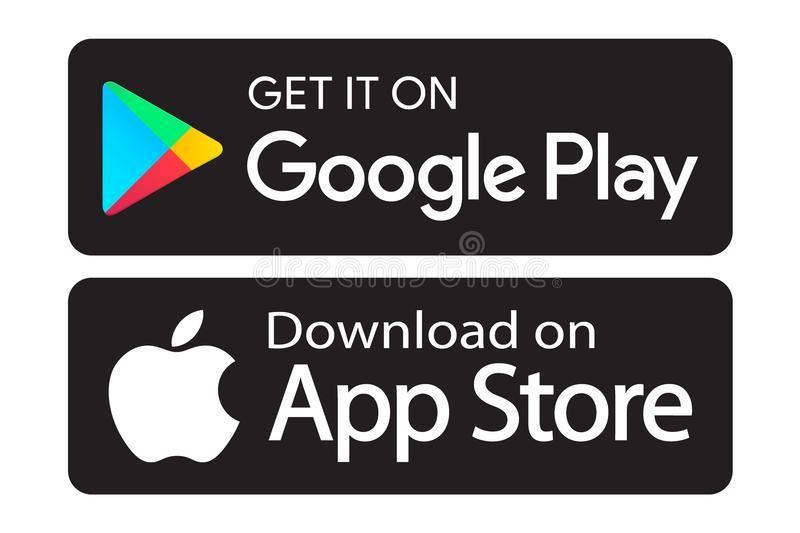 Google Play App Store Icons Editable Vector Illustration On