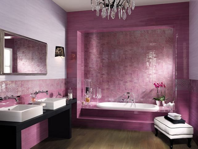Látványos, színes csempék - szép, modern fürdőszobák - burkolat ...