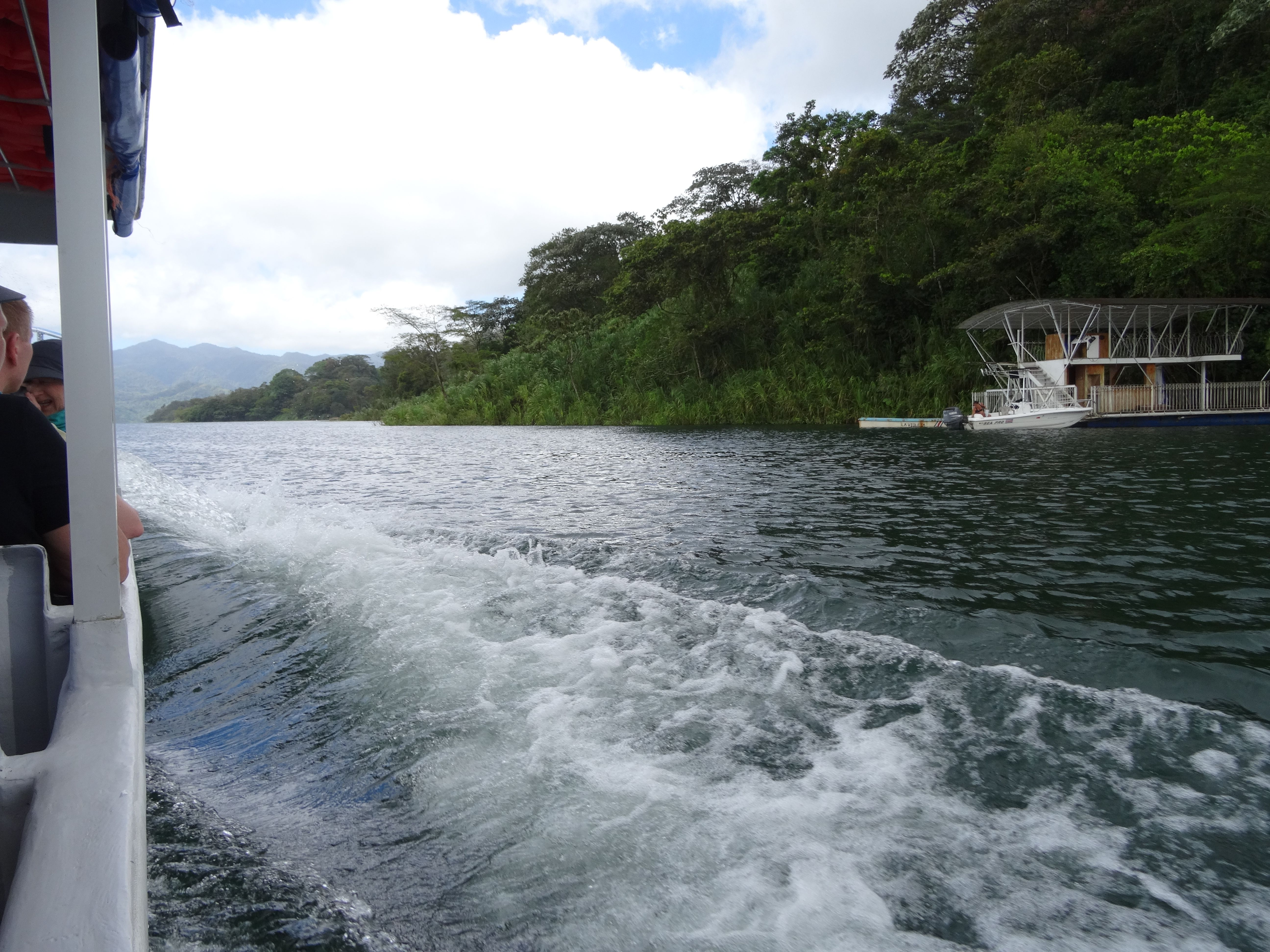 Arenal lake - transport by ship