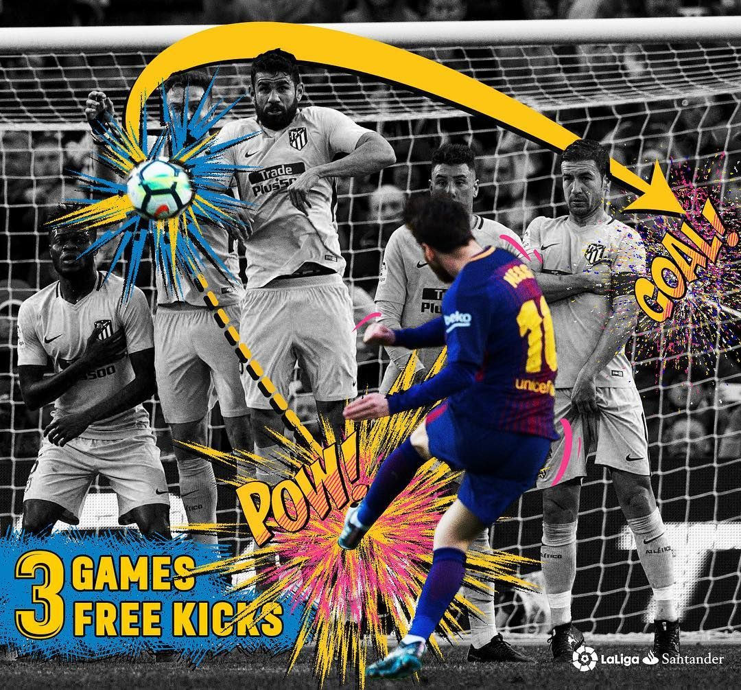 Messi Scores Goals By A Free Kick In 3 Consecutive Games