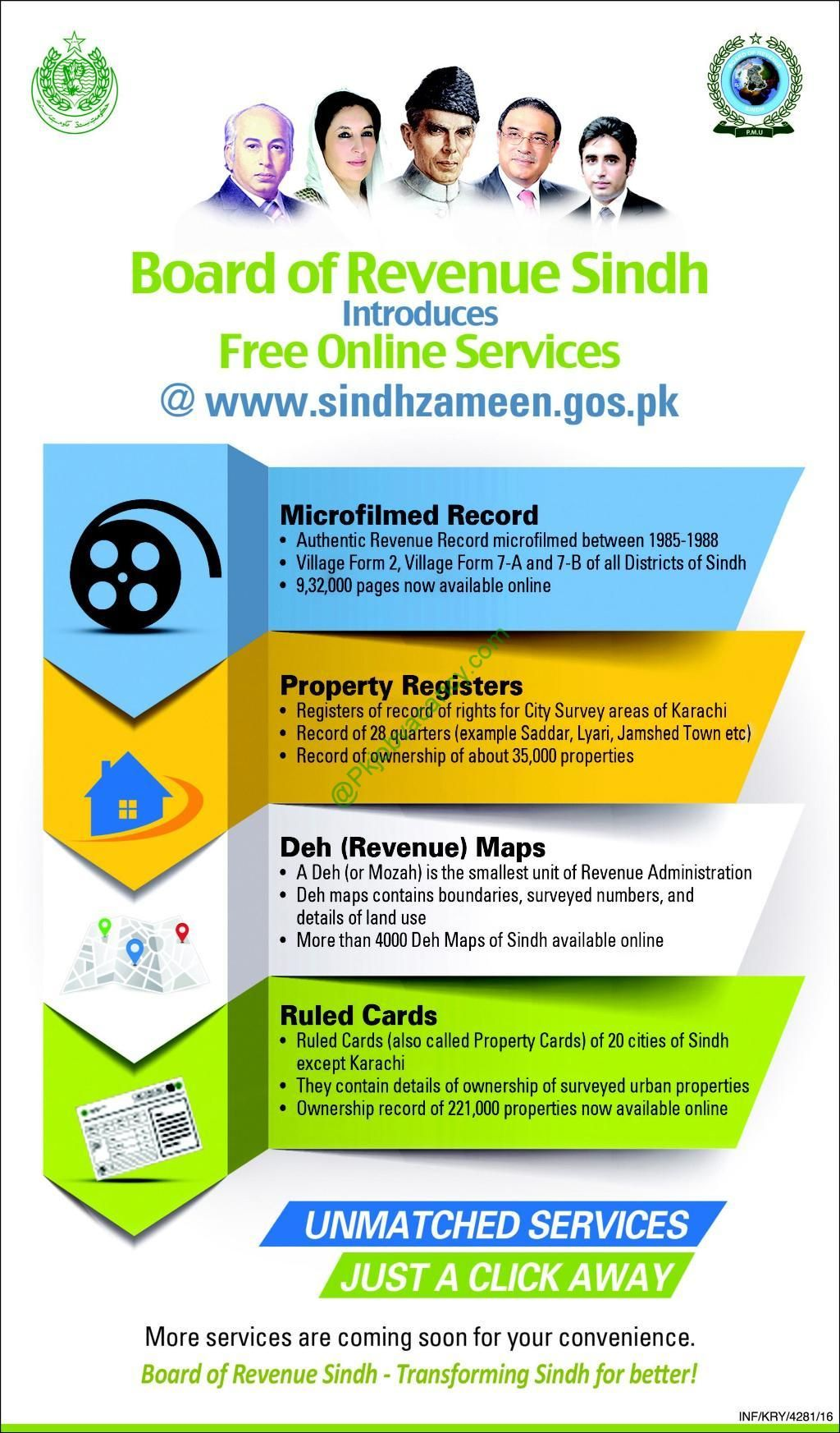 Board Of Revenue Sindh Free Online Services | Property Register