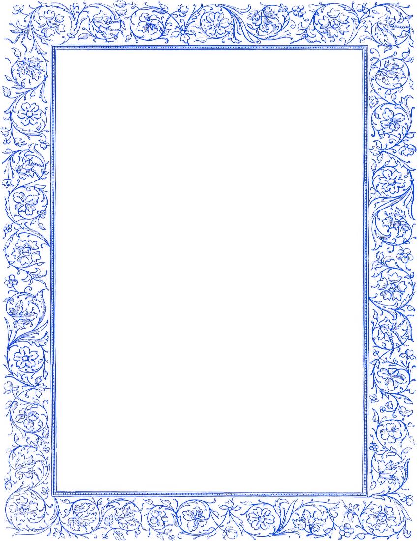 Decorative borders for microsoft word fancy page borders for microsoft - Victorian Floral Border Blue Clip Art Download Clipart Best Clipart Best