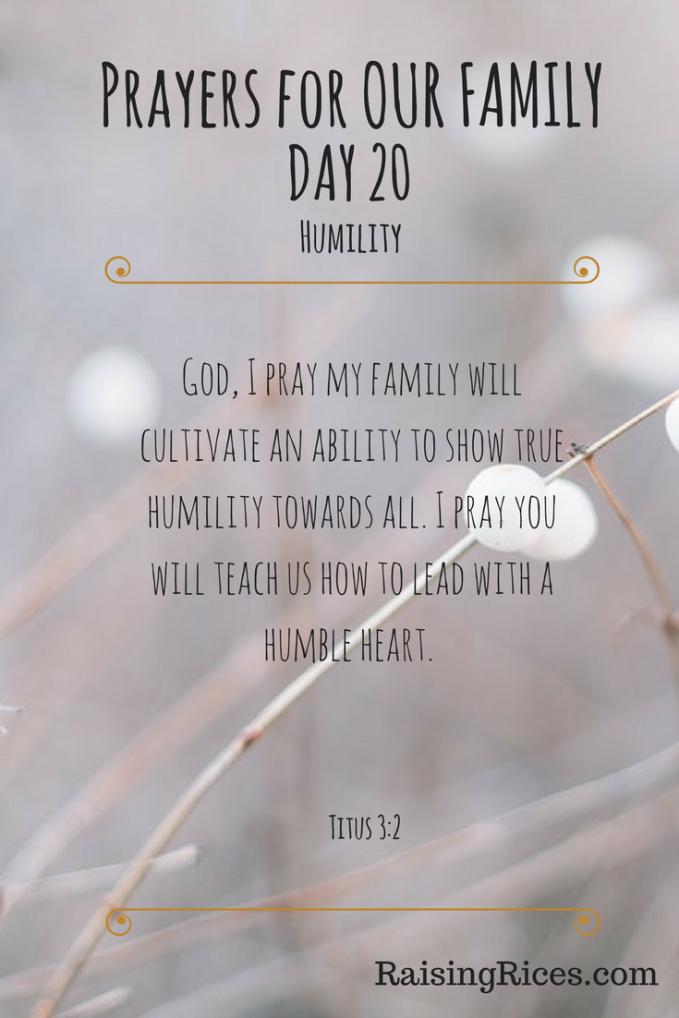 Prayers for OUR FAMILY DAY 20 gospel