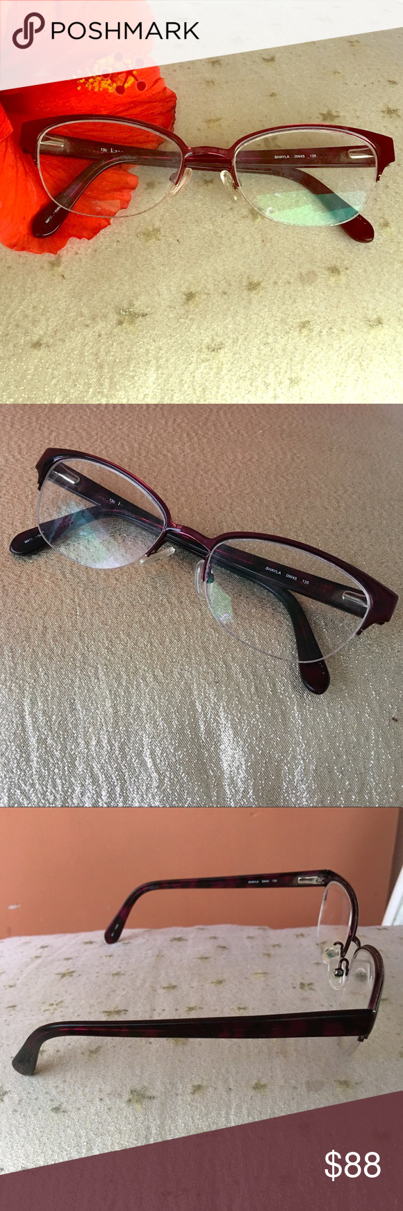 KATE SPADE Shayla purple frames eye glasses   Eye glasses, RC Lens ...
