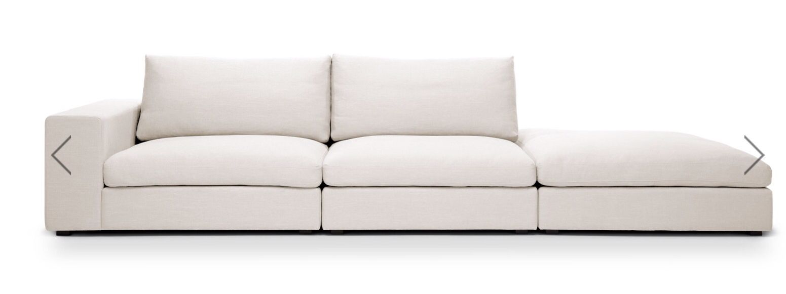 Cube Sectional from Article https://www.article.com/product/1179/cube-quartz-white-modular-sofa-left-arm