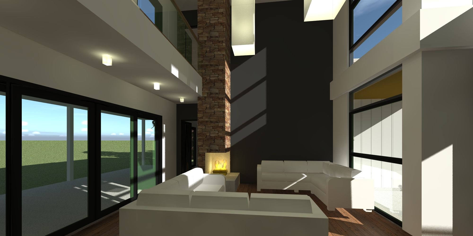 4 Bedroom Modern Home with Private Office House plans