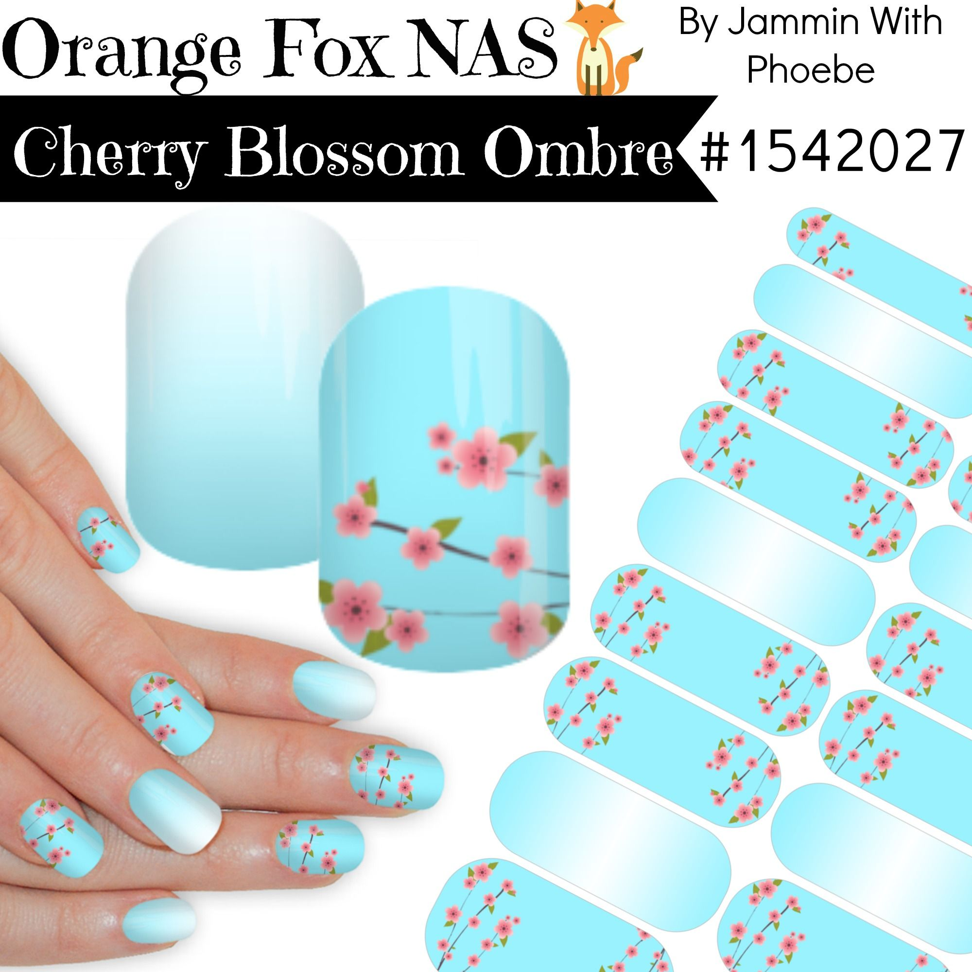 Cherry Blossom and Ombre NAS Jamberry Nail Art Studio Wraps #nailart ...
