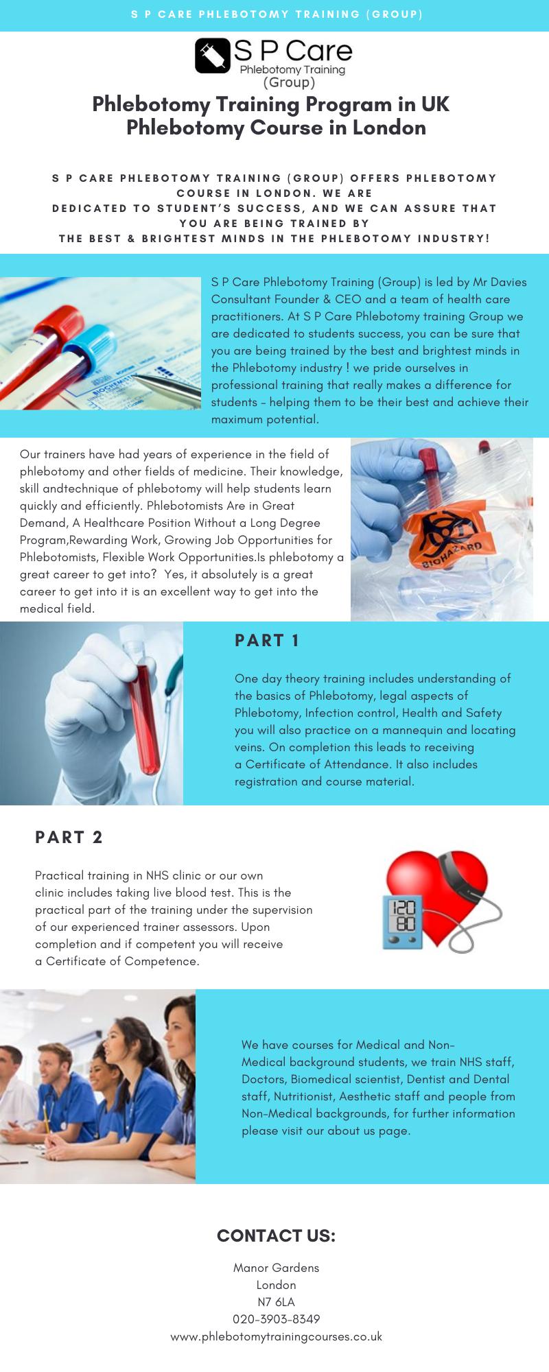 phlebotomy training program care student certificate success medical london programs