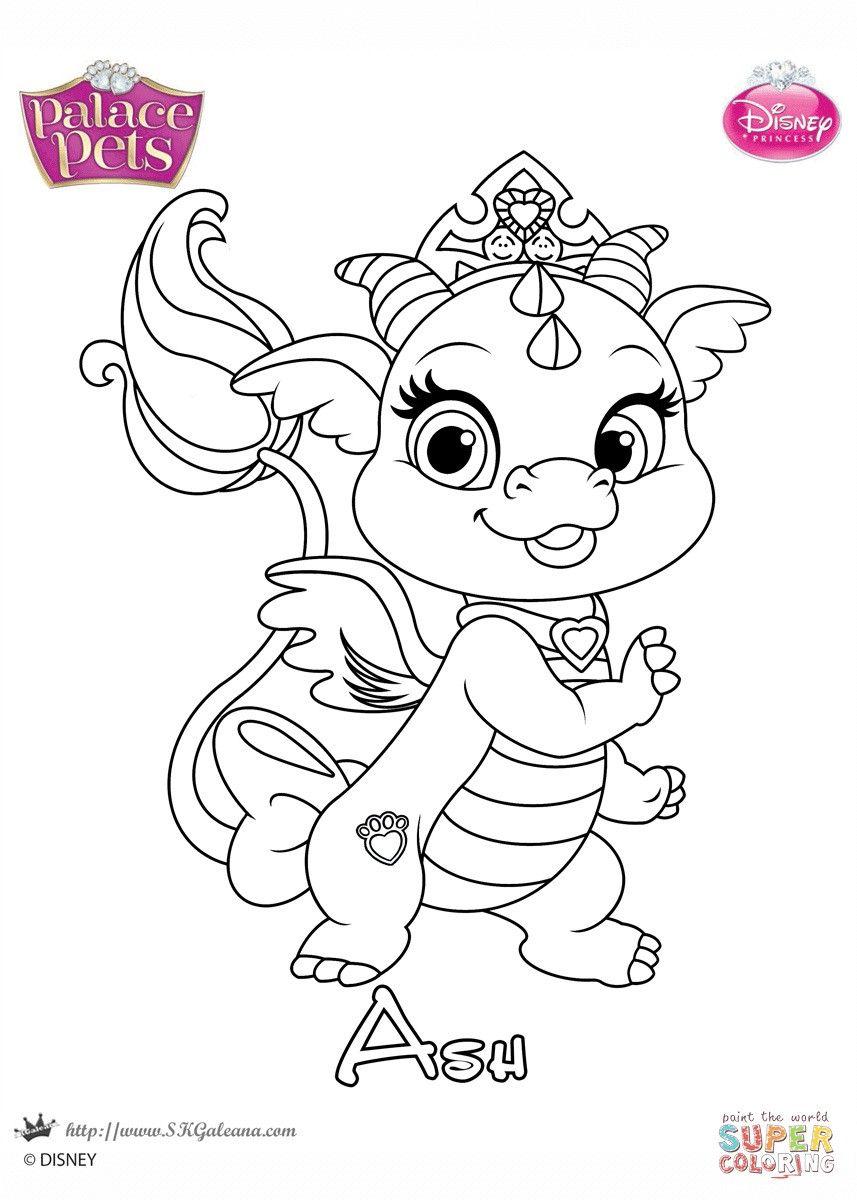 - Princess Pets Coloring Page Princess Coloring Pages, Disney