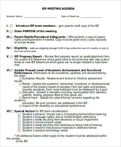 Simple-IEP-Meeting-Agendajpg (390×475) Special Education - example of agenda for a meeting