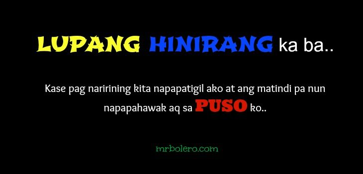 Tagalog Pick-up Lines | Patama Quotes | Pinterest ...