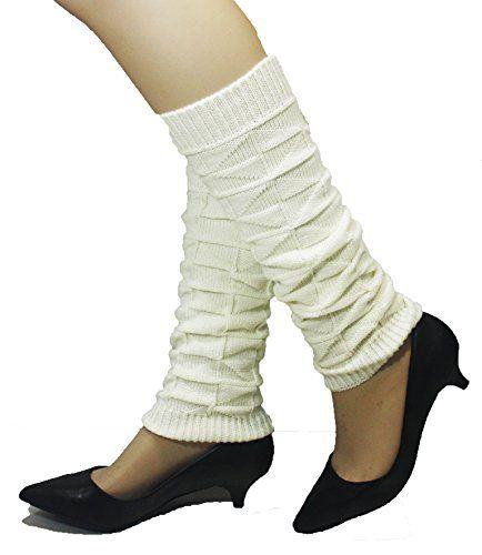 Kuugoods Kreme Trifect Winter Knit Crochet Leg Warmers Leggings ** For more information, visit image link.