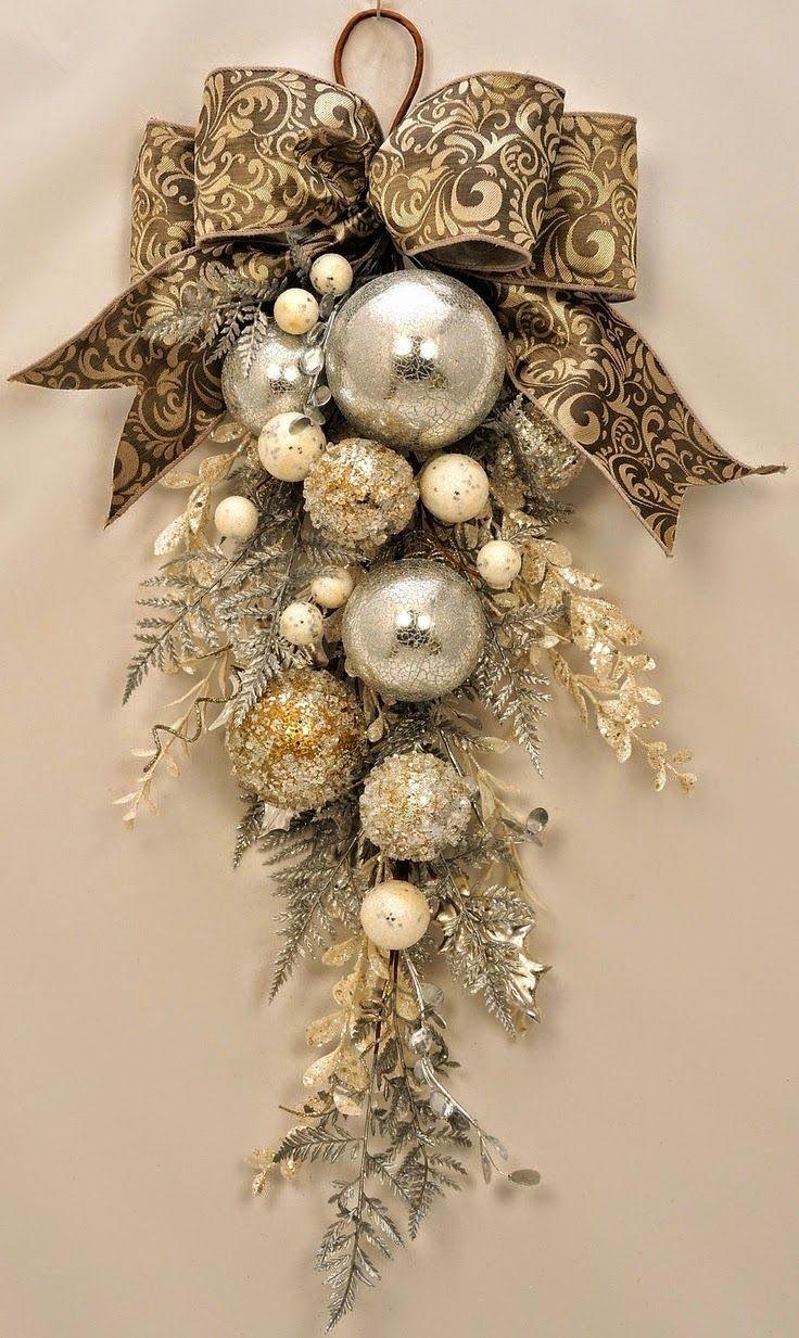 Stunning Ornament And Crystal Christmas Christmas Special Christmas Swags Christmas Wreaths Christmas Diy