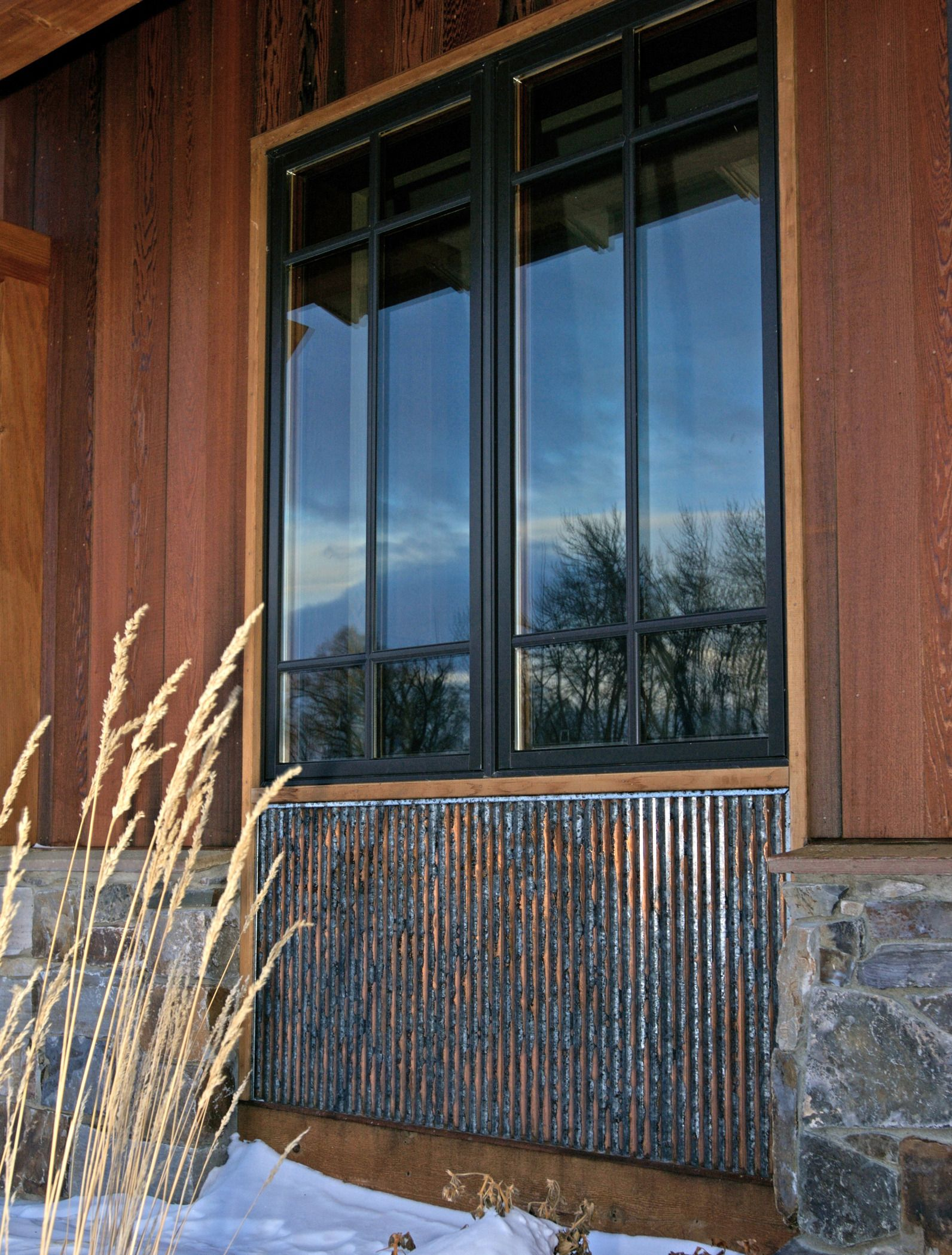 Corrugated Metal Siding : Rustic corrugated metal with special patina by bridger