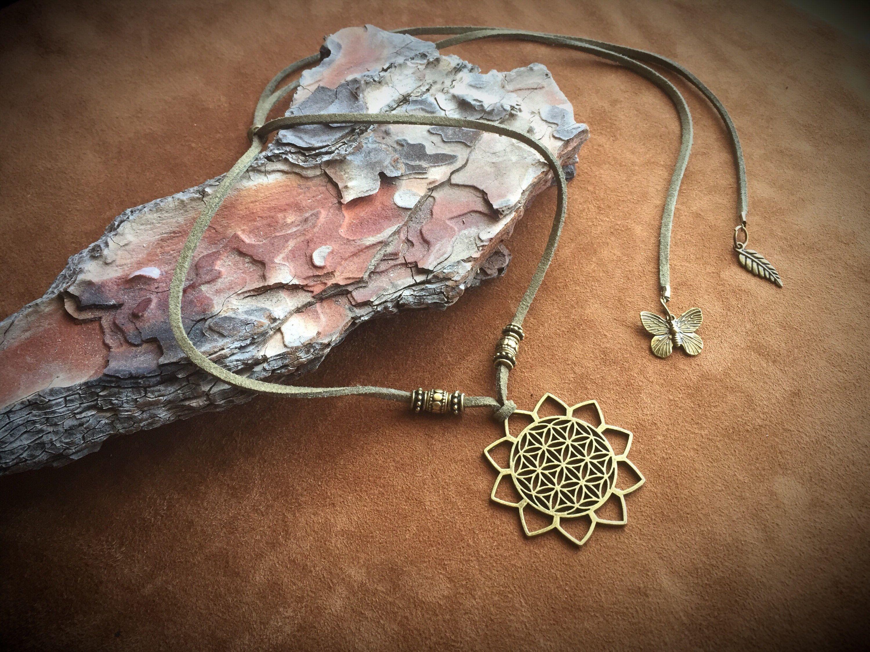 Flower Of Life Necklace New Age Mandala Pendant Sacred Geometry