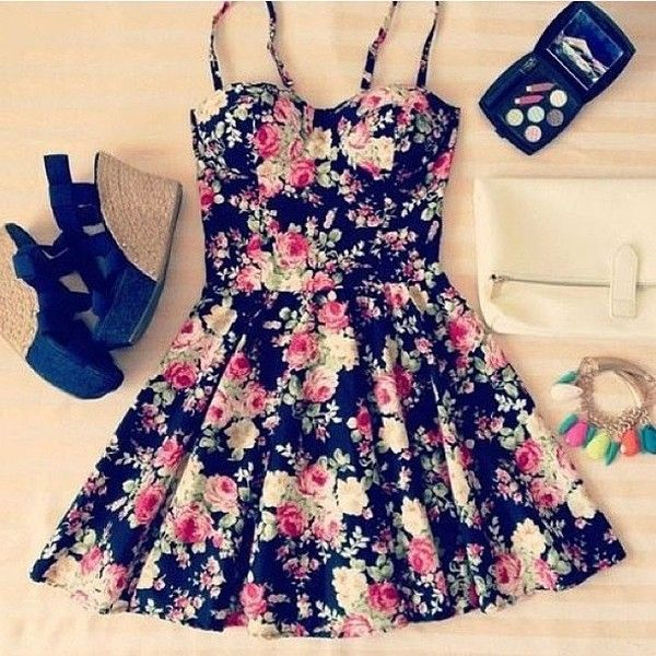 Dress | Bustier dress, Short floral dress and Night out outfit
