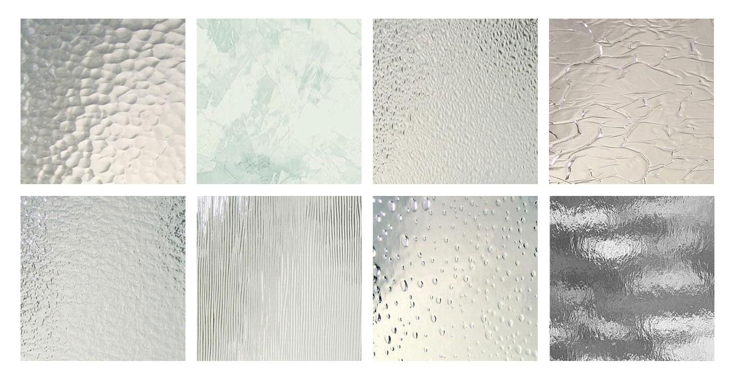 Clear texture architectural glass pack from delphi glass for Textured glass panels