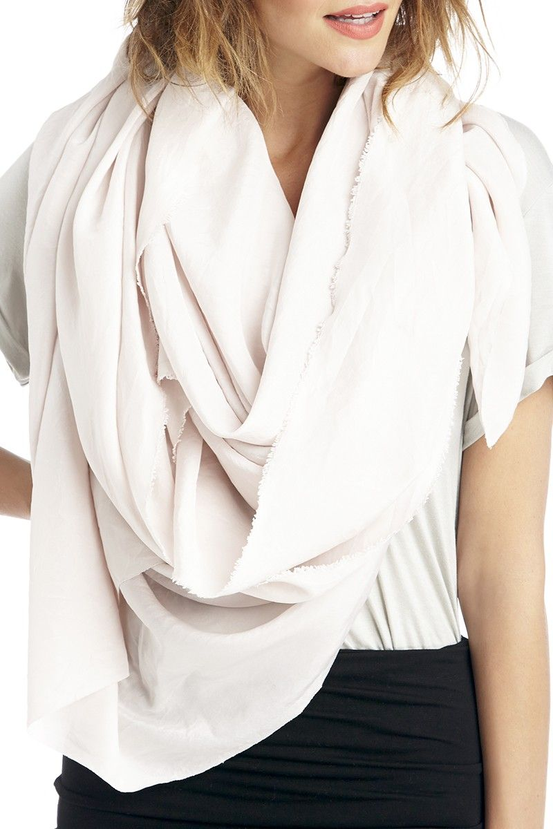 Luxurious silk scarf in a beautiful dusty blush color//