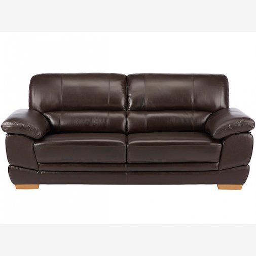 Style Of Cameron 3 Seater Sofa Dark Brown Leather Minimalist - Awesome 3 seater sofa Elegant