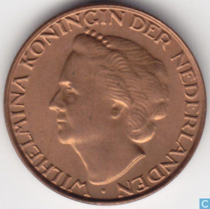 1948 1 cent kop Wilhelmina
