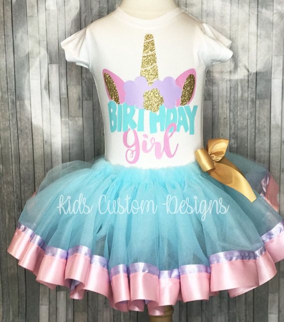 Unicorn Birthday Outfit Shirt Girl 1st 2nd 3rd
