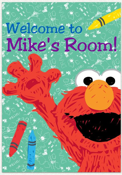 Check out this customizable Elmo room decal available in three ...
