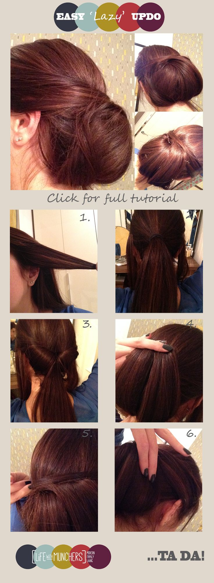 Easy updo for long hair chignon tutorial easy updo and chignons