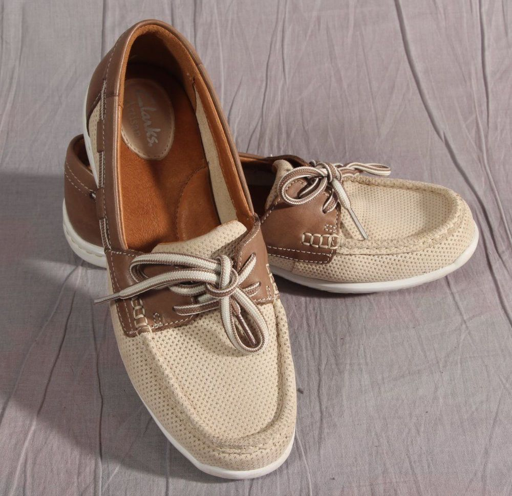 Boat shoe · Women's Clarks Artisan Shoes Size 7 M Beige ...