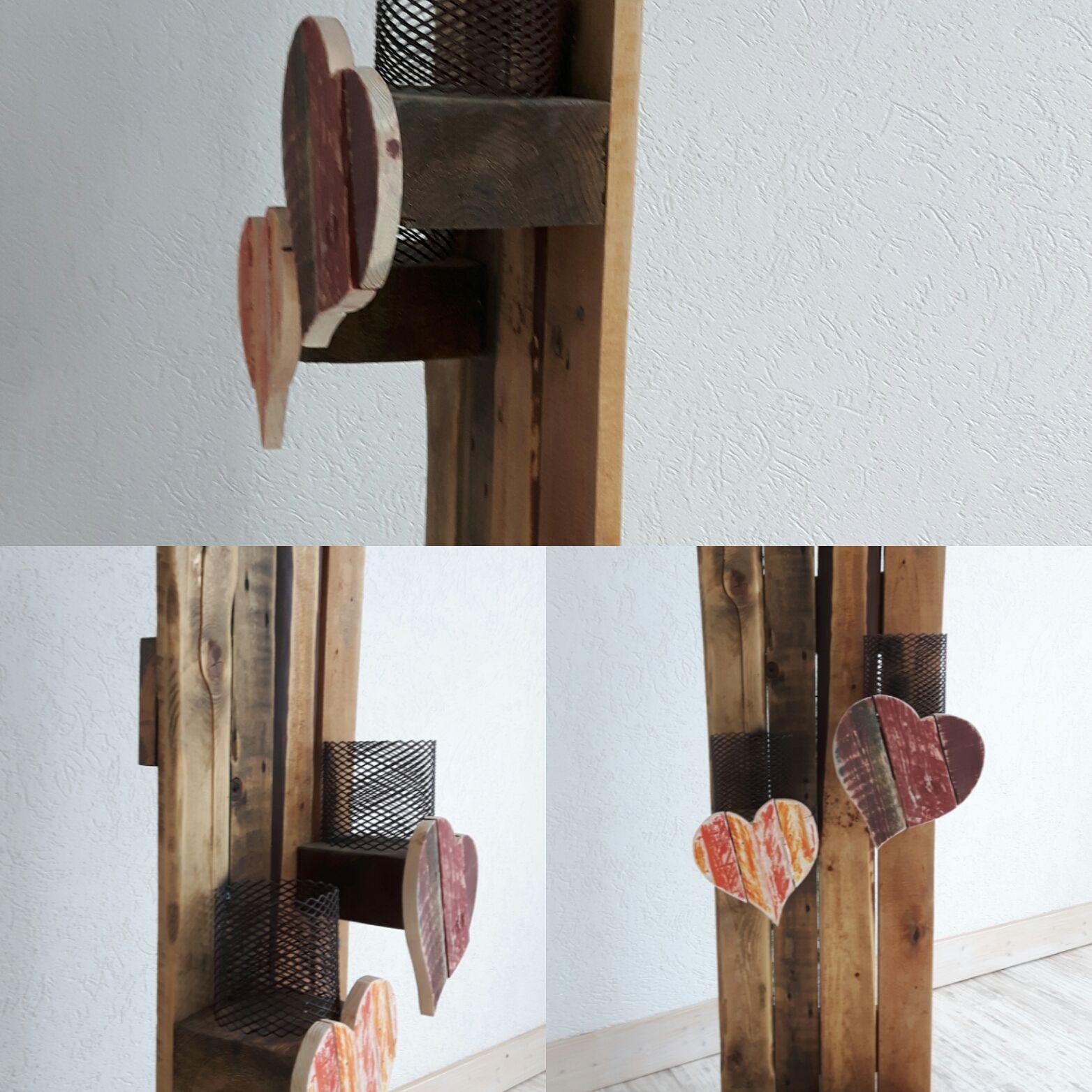 Deko-Ständer aus Palettenholz