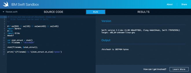 IBM Swift Sandbox lets you test Apple's newly open-source