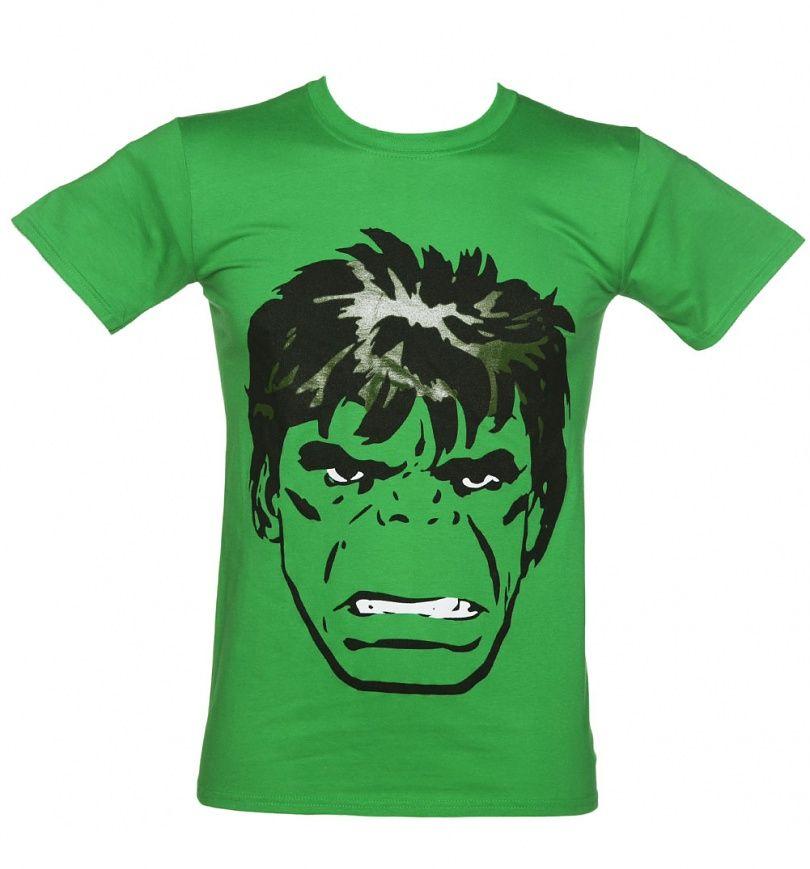 Official T Shirt Marvel HULK Face /'Comic/' Green All Sizes