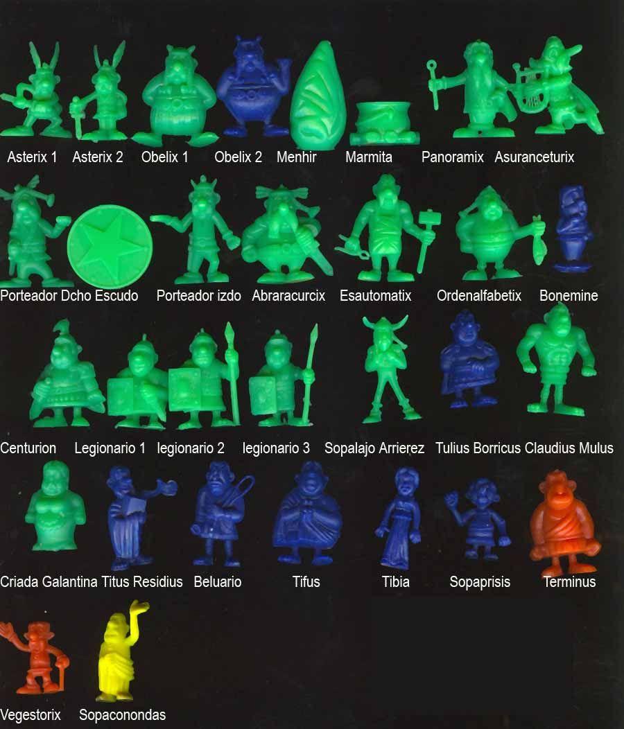 Figuras promocionales: Figuras de Asterix españolas: Las tuve!