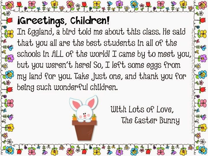Delivery And Letter Freebie From The Easter Bunny In Spanish Too