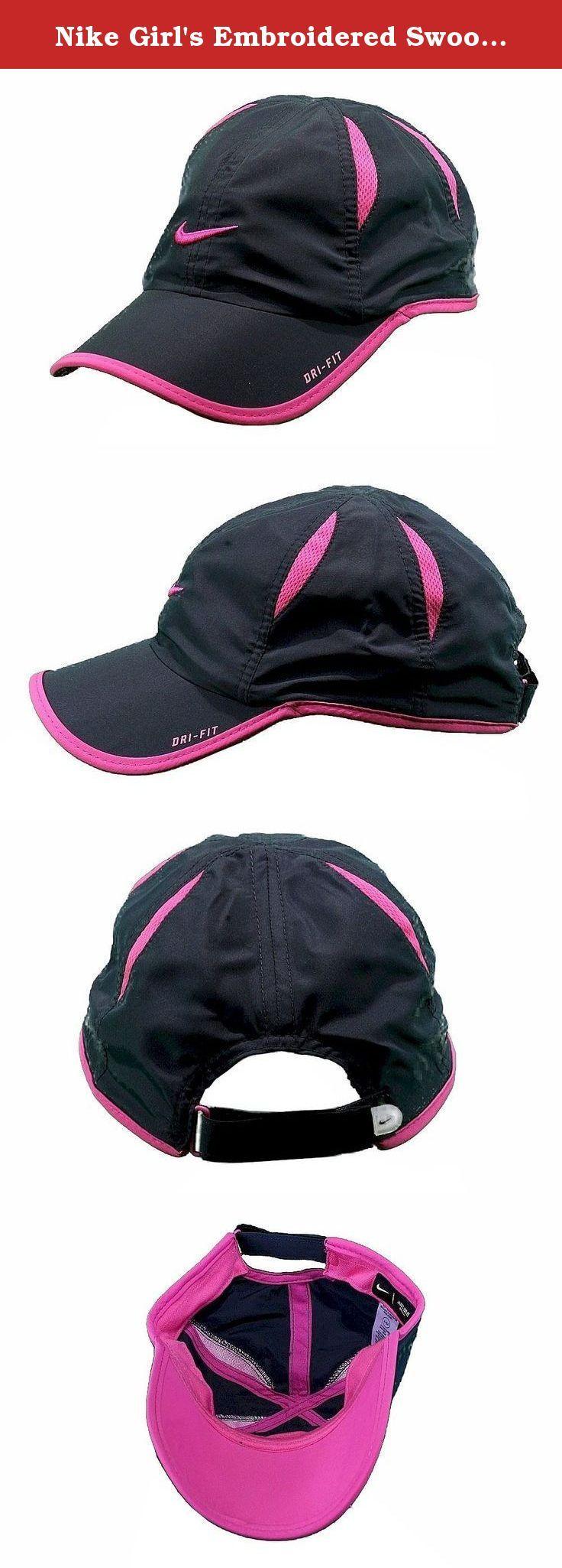 e0cfaf2422d Nike Girl s Embroidered Swoosh Logo Dri-Fit Baseball Cap SZ 4 6X  (Anthracite). Nike DRI-FIT Hat.