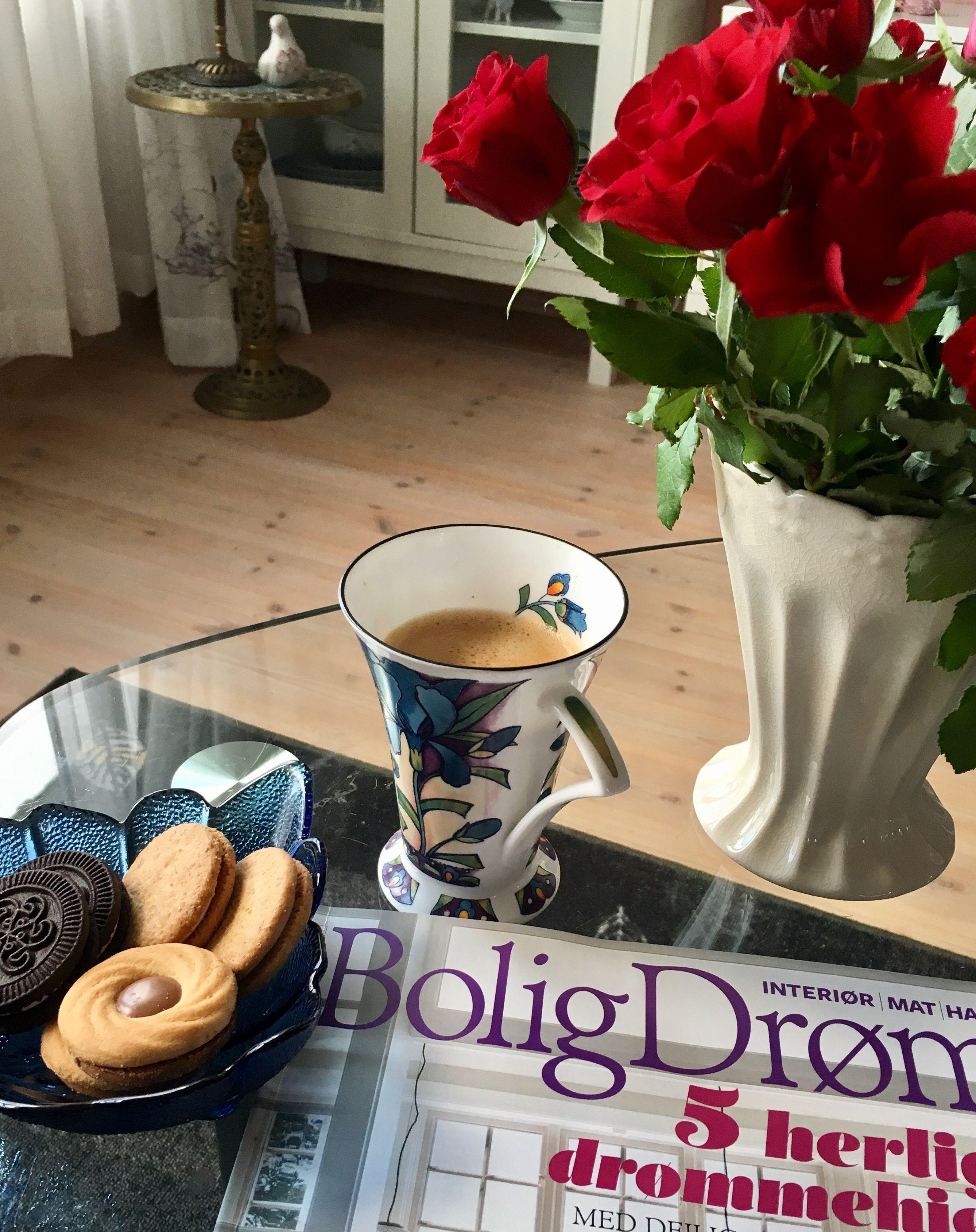 Noe godt til kaffen og BoligDrøm ☕️🍪🌹👌🏻