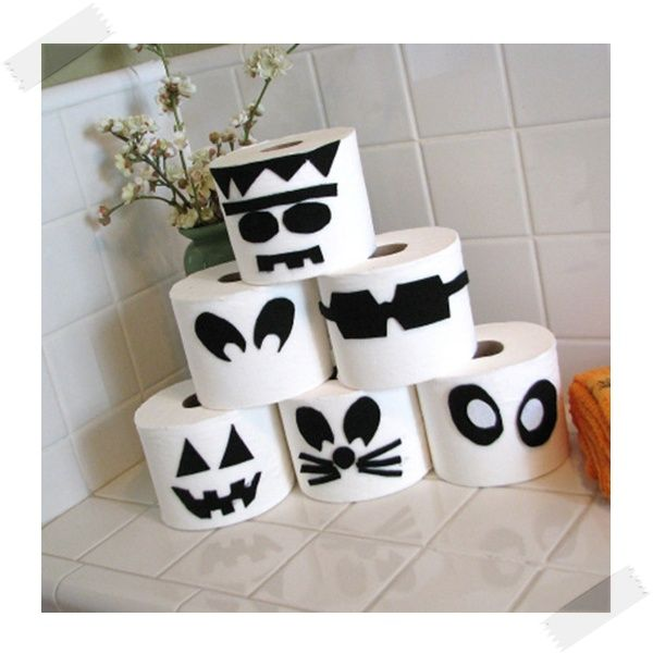decoracin de halloween monstruos de papel higinico - Decoraciones De Halloween