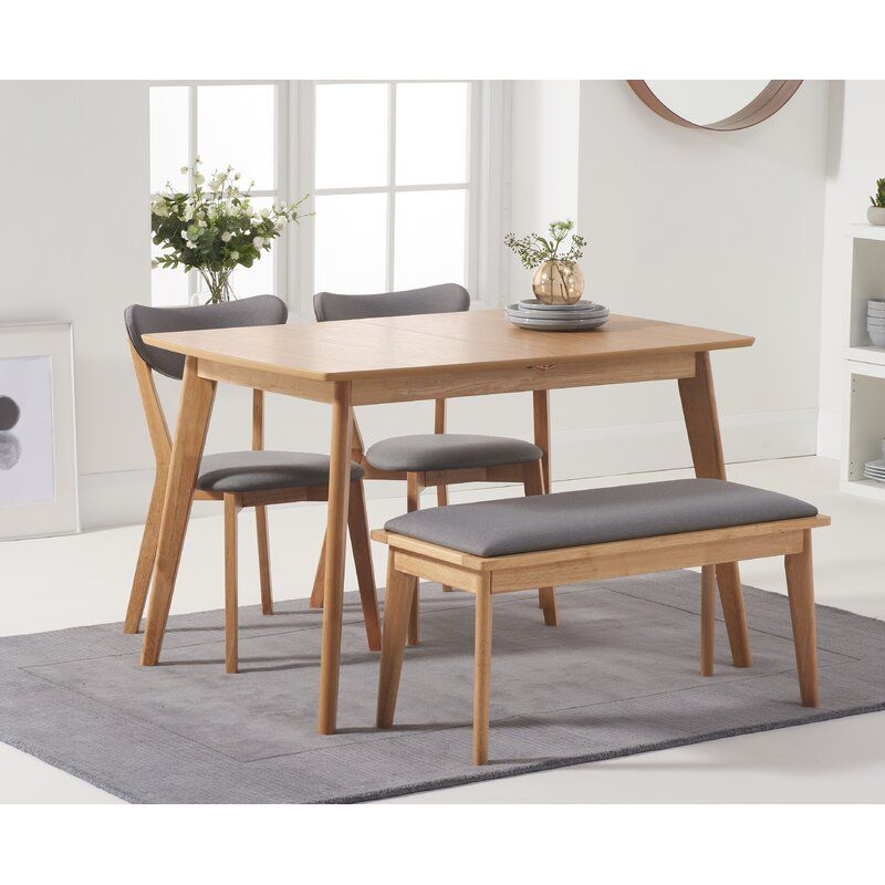 Lowville Extendable Dining Set With 2 Chairs And One Bench In 2020