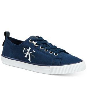 cb56524e73 Calvin Klein Jeans Women s Dora Logo Sneakers - Blue 8M