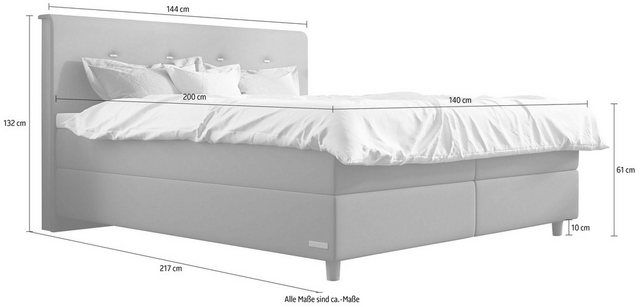 Photo of Schlaraffia box spring bed »Elvis«, incl. BULTEX® topper, foot in floating optics online OTTO