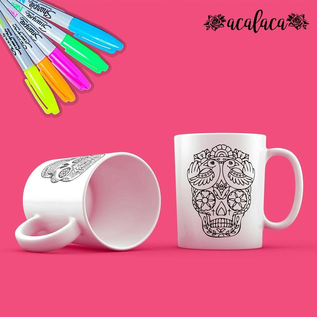 ☕️Mugs para colorear 🌸💀🎨 | Pinterest | Libros de mandalas ...