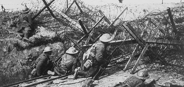 Barbed wire became an all-too-recognizable feature of the Western Front.
