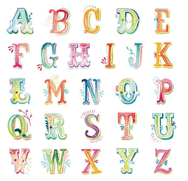 Fancy Typography Diy Watercolor Lettering Hand